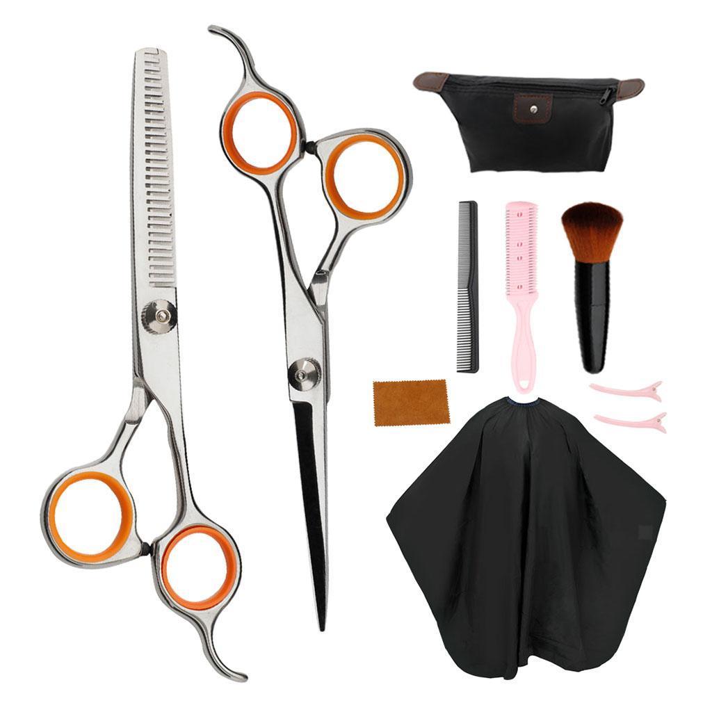 6in-ciseaux-de-coiffure-ciseaux-de-coupe-de-cheveux-robes-peigne-en-tissu-peigne miniature 4
