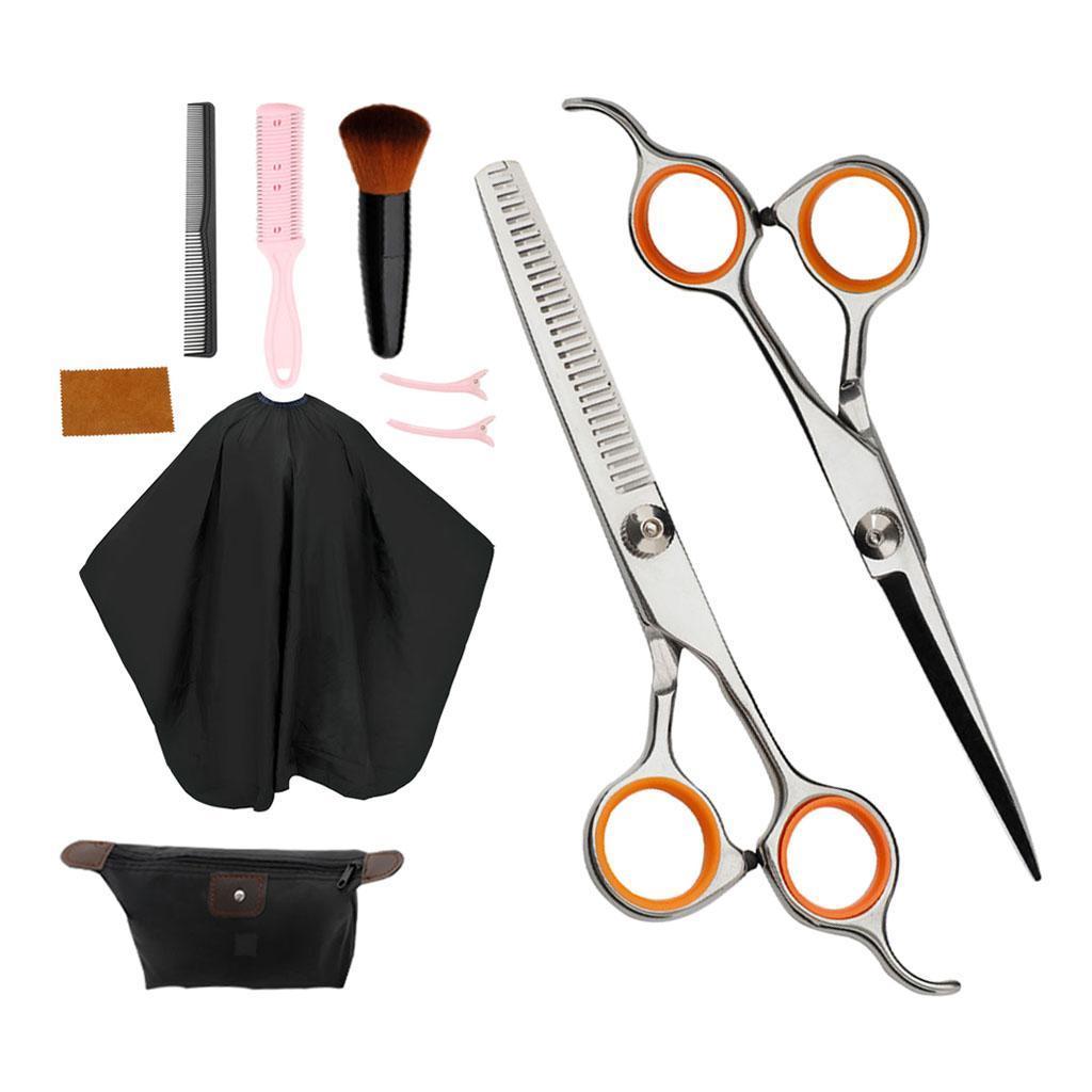 6in-ciseaux-de-coiffure-ciseaux-de-coupe-de-cheveux-robes-peigne-en-tissu-peigne miniature 3