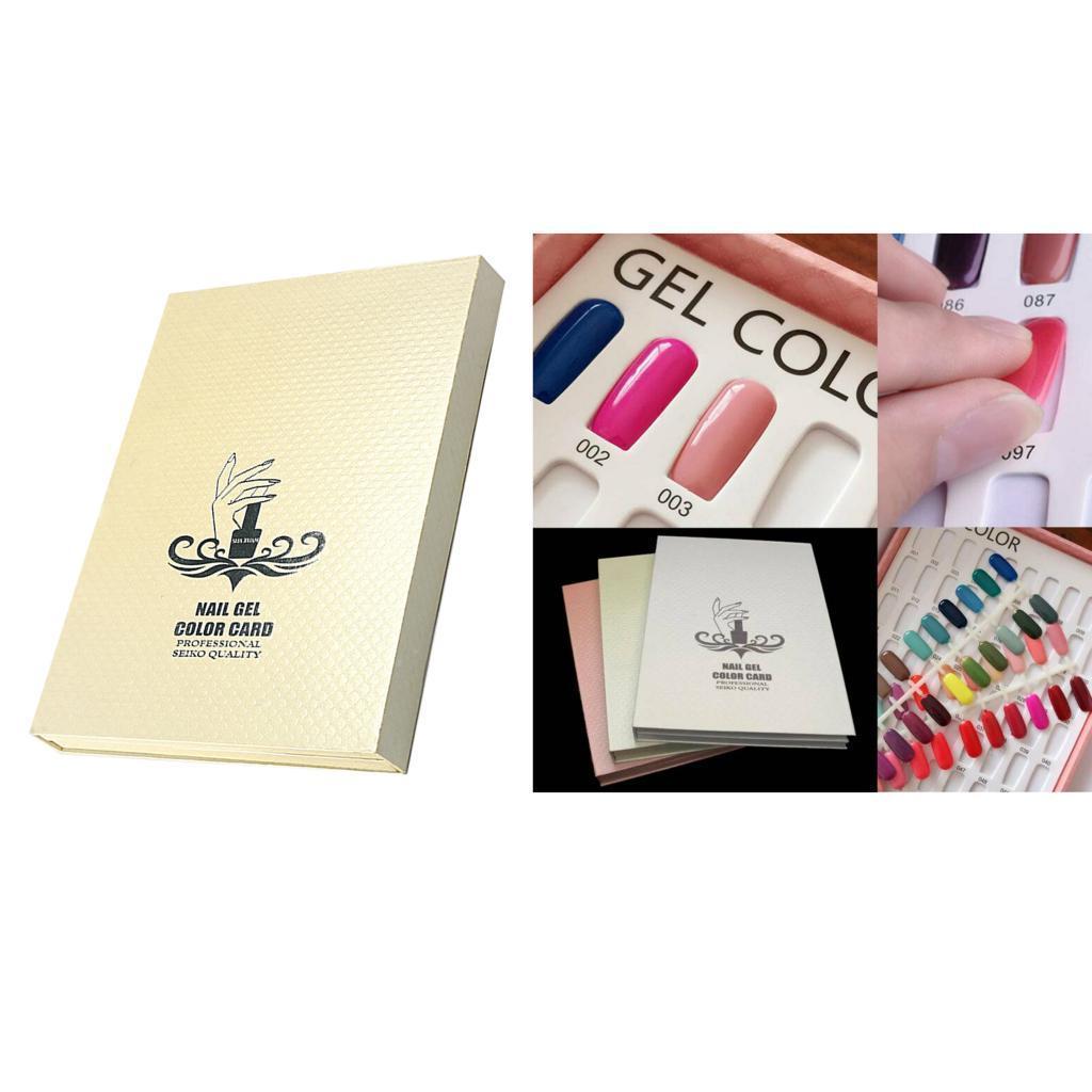 Manicure-di-Arte-Del-120-Smalto-Del-Gel-Carta-di-Colore-Grafico-di miniatura 25