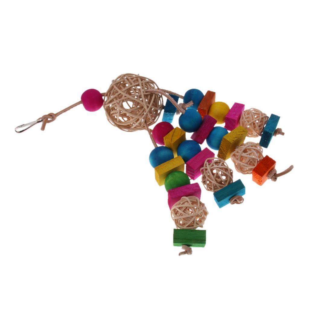 miniatura 43 - Pappagallo in legno per uccelli Giocattolo da masticare Giocattolo da masticare
