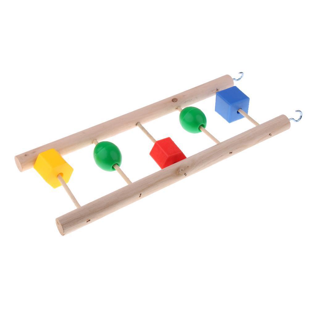 miniatura 45 - Pappagallo in legno per uccelli Giocattolo da masticare Giocattolo da masticare