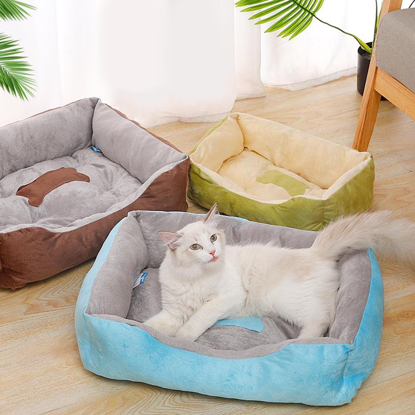 Indexbild 51 - Katze-Hund-Bett-Pet-Kissen-Betten-Haus-Schlaf-Soft-Warmen-Zwinger-Decke-Nest