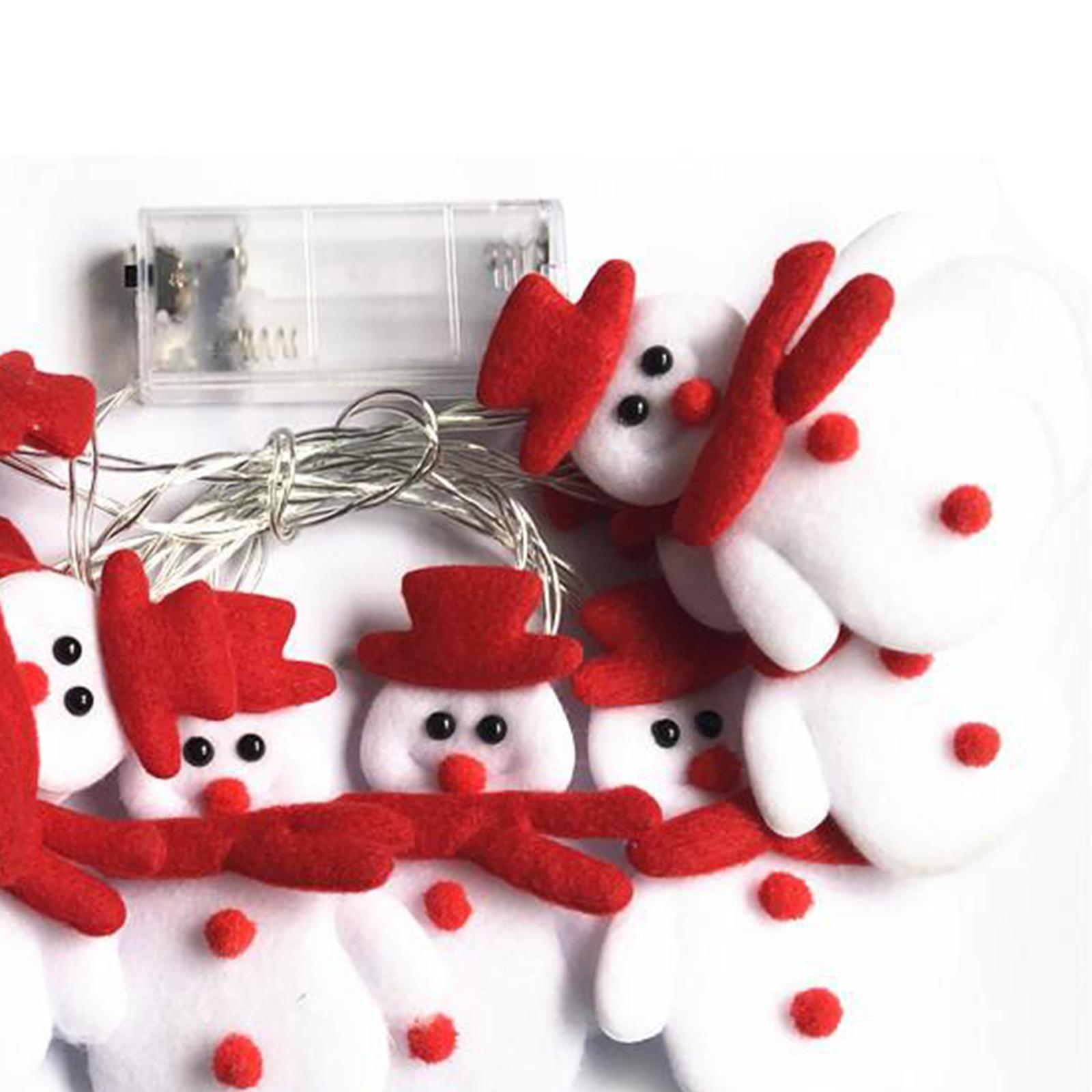 miniature 15 - LED Cordes Guirlandes De Noël Bonhomme De Neige Lumières Décors pour Salon En
