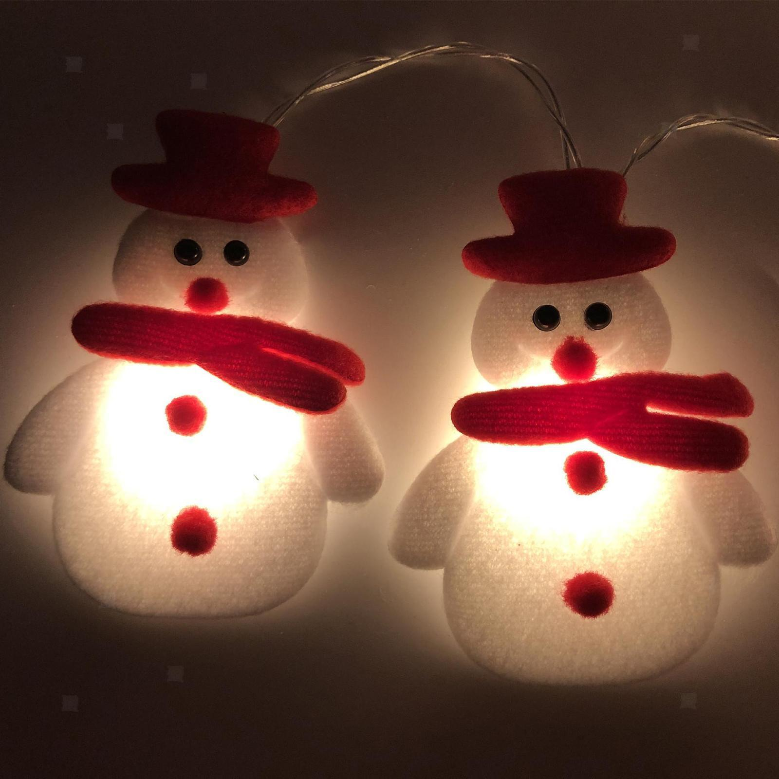 miniature 18 - LED Cordes Guirlandes De Noël Bonhomme De Neige Lumières Décors pour Salon En
