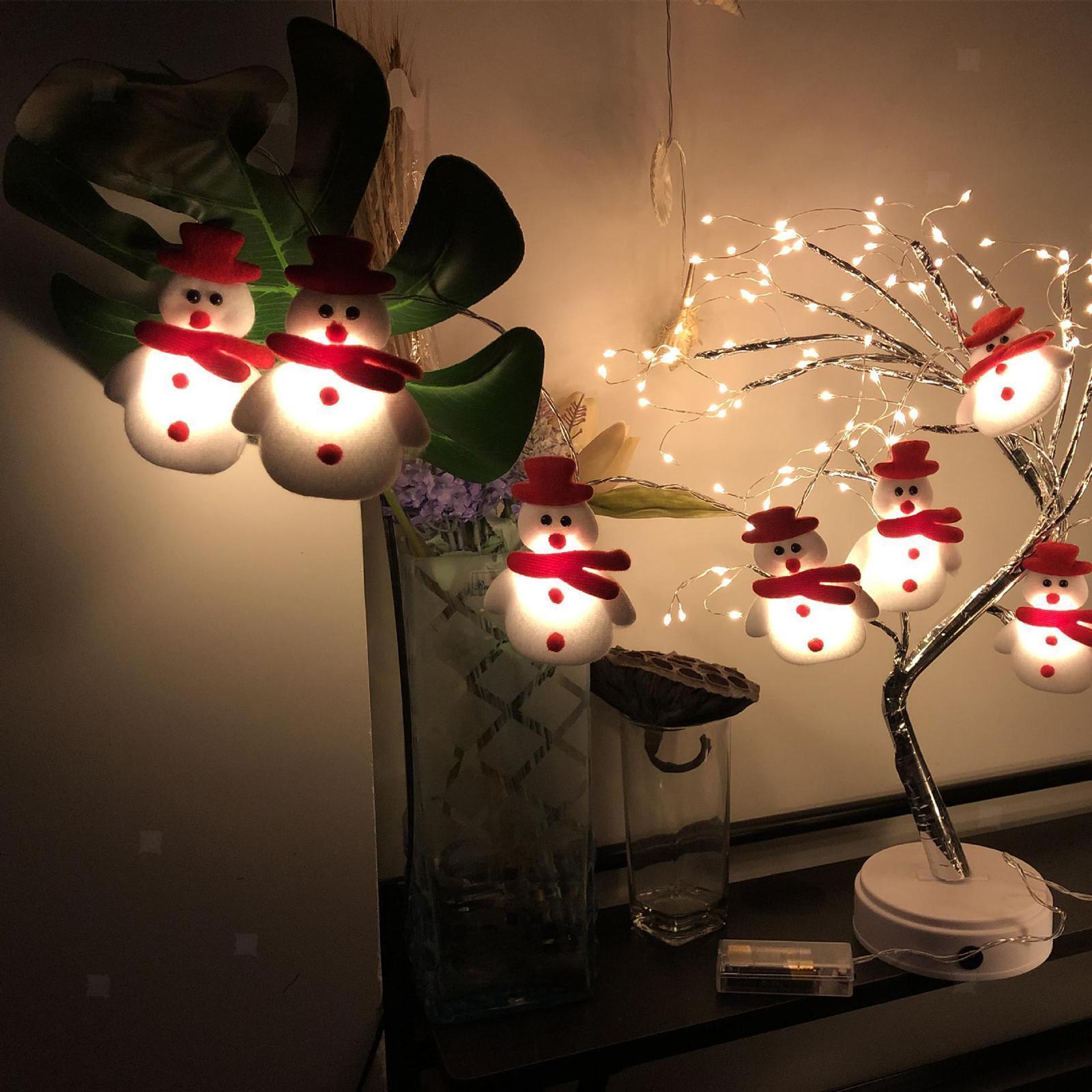 miniature 13 - LED Cordes Guirlandes De Noël Bonhomme De Neige Lumières Décors pour Salon En