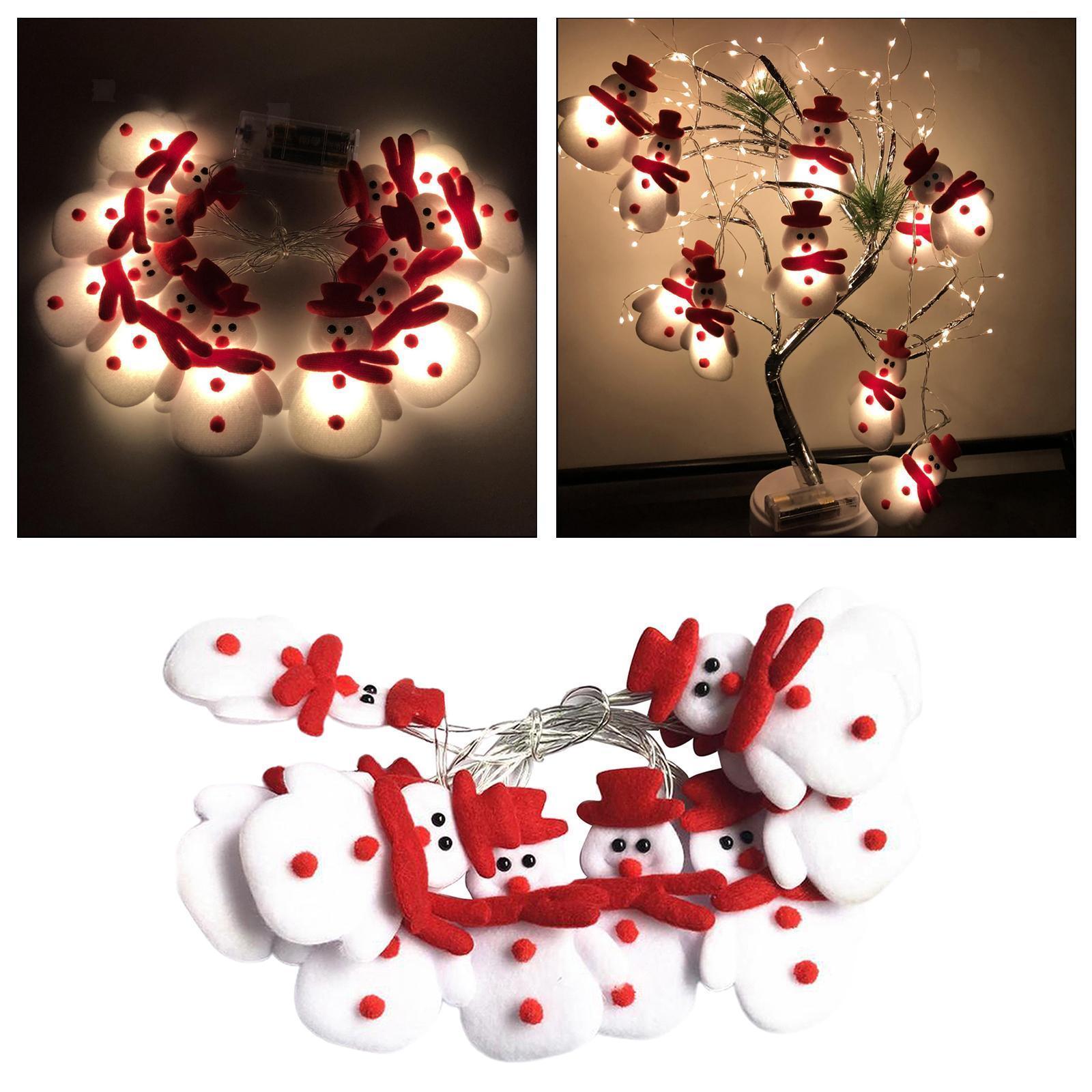 miniature 14 - LED Cordes Guirlandes De Noël Bonhomme De Neige Lumières Décors pour Salon En