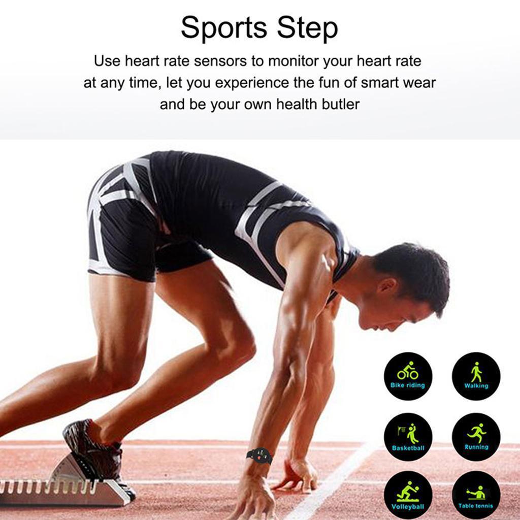 Indexbild 13 - Smart Watch Wasserdichte Herzfrequenz Schlafmonitor Sport Armbanduhr SMS