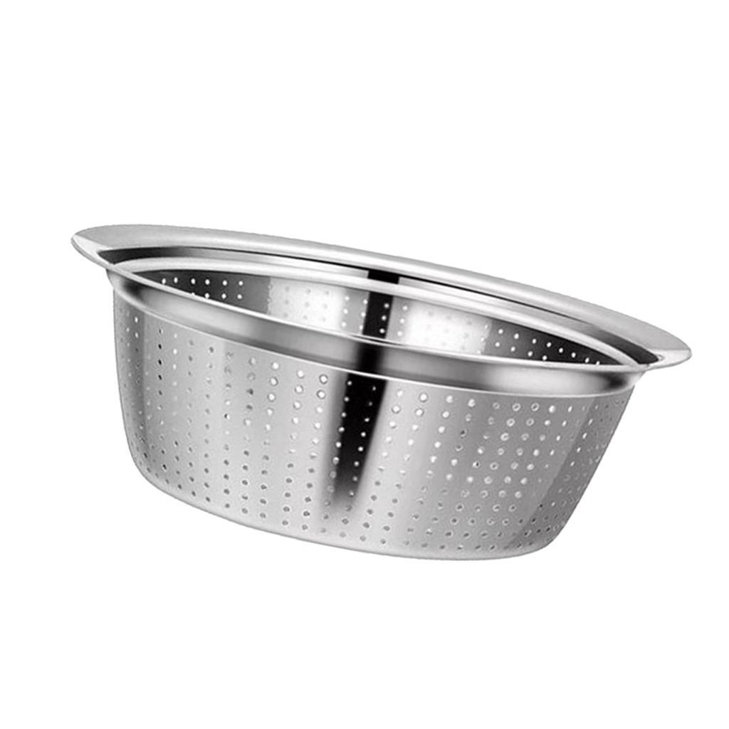 Large-Metal-Pasta-Vegetable-Strainer-Colander-Kitchen-Rice-Sifter-Sieve thumbnail 20