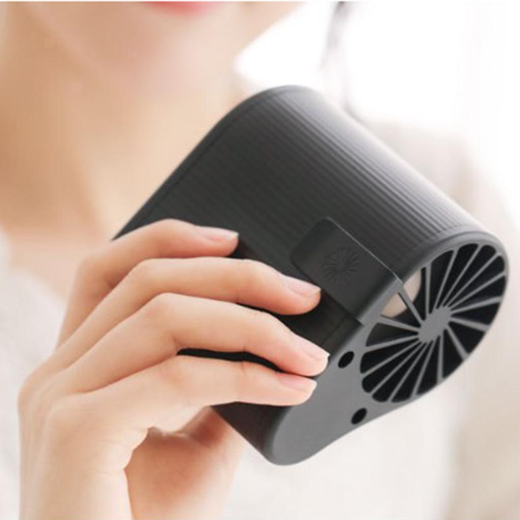 Taille-Suspendue-Mini-Fan-Ventilateur-De-Refroidissement-Portable-5V-1000RPM miniature 12
