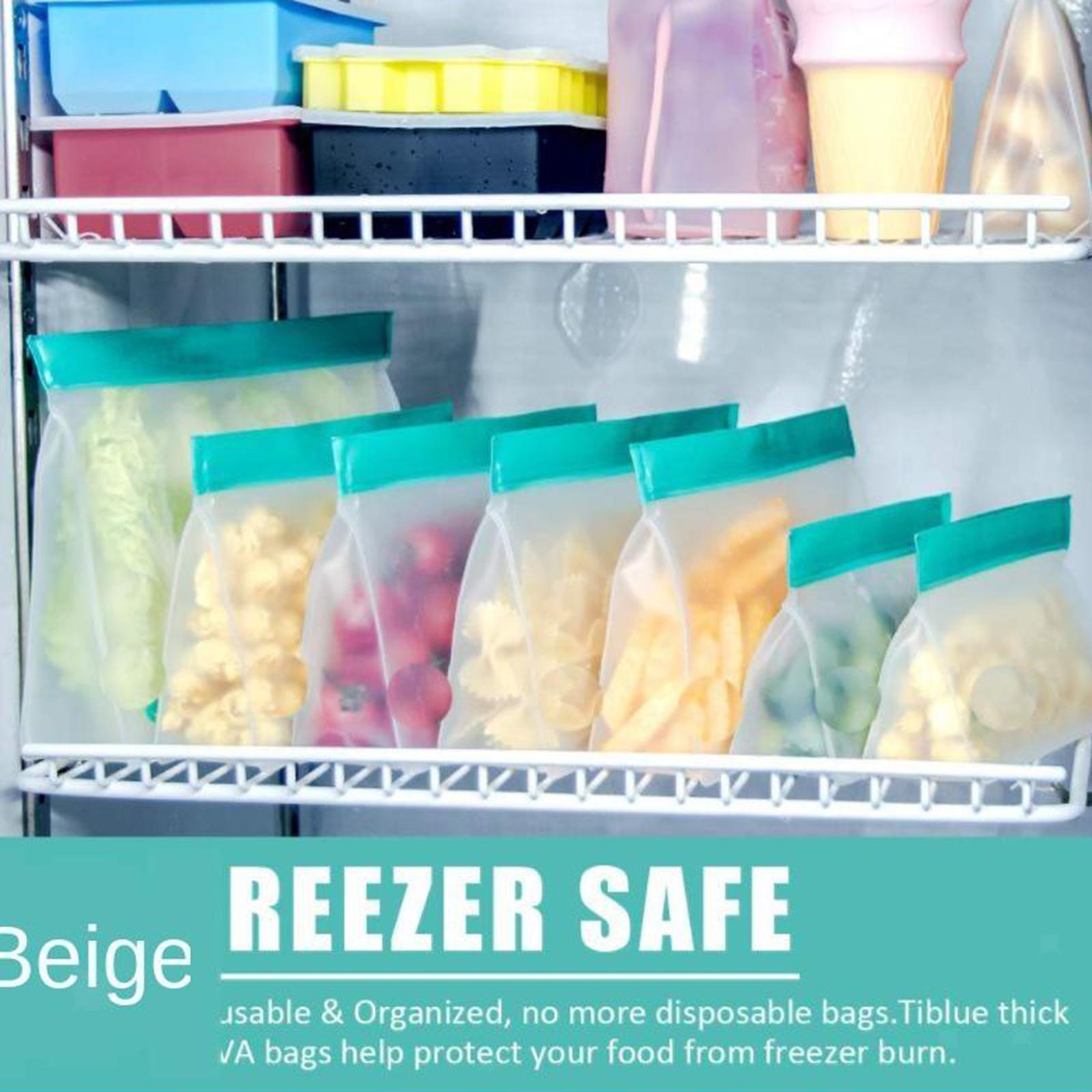 3-pezzi-di-Cibo-Sacchetto-di-Immagazzinaggio-Fresco-PEVA-Carne-Frutta-BPA-Libero miniatura 8