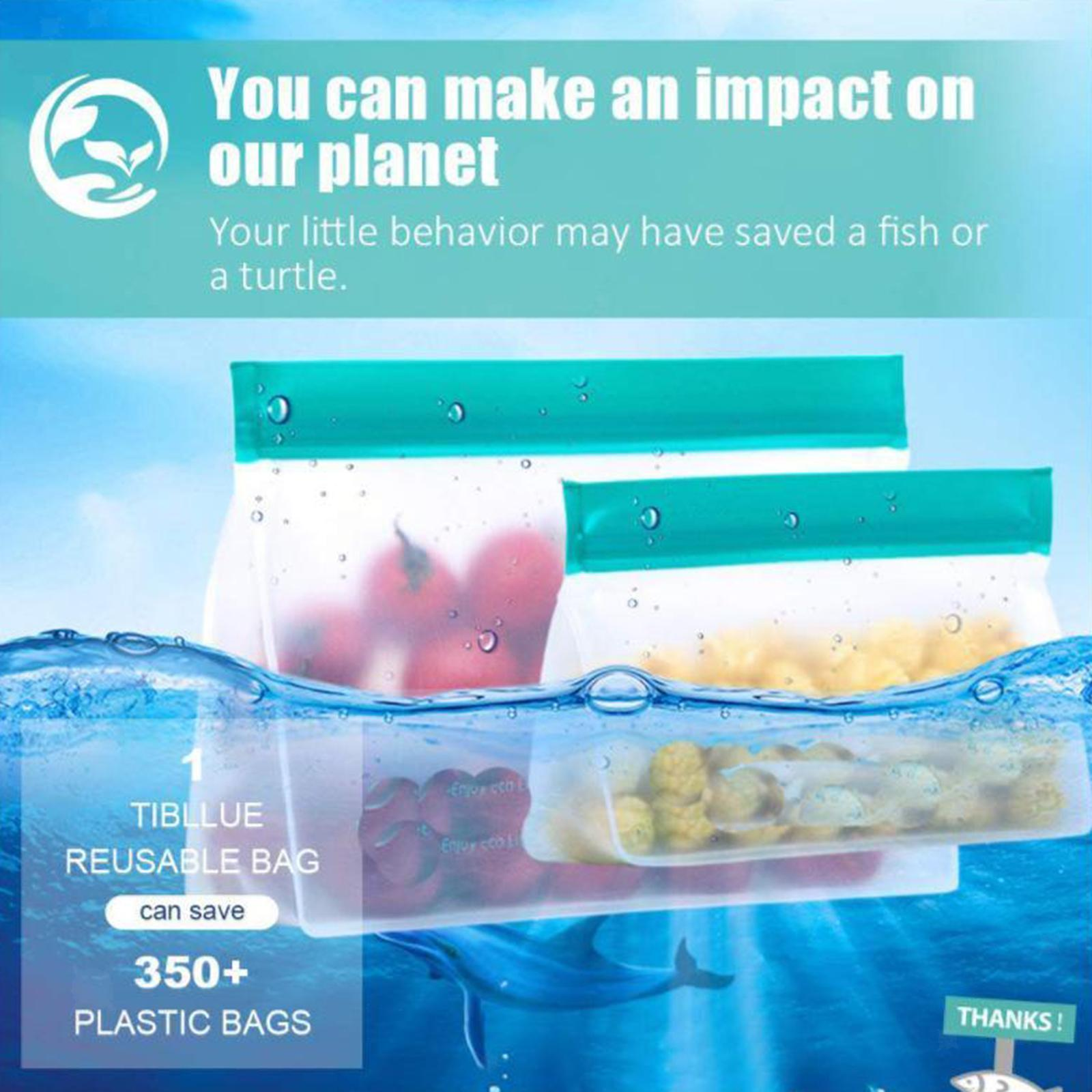 3-pezzi-di-Cibo-Sacchetto-di-Immagazzinaggio-Fresco-PEVA-Carne-Frutta-BPA-Libero miniatura 9