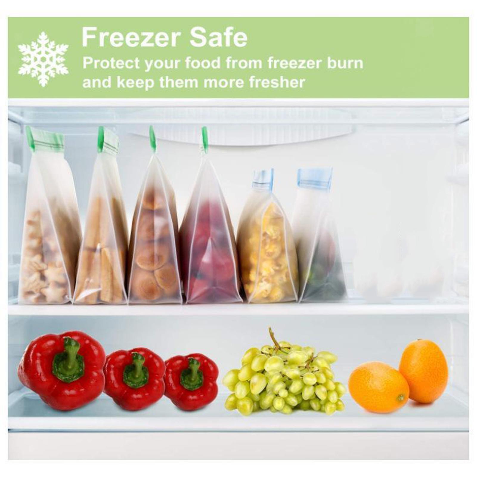 3-pezzi-di-Cibo-Sacchetto-di-Immagazzinaggio-Fresco-PEVA-Carne-Frutta-BPA-Libero miniatura 10