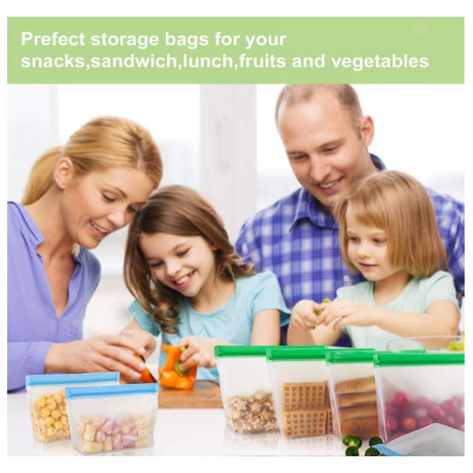 3-pezzi-di-Cibo-Sacchetto-di-Immagazzinaggio-Fresco-PEVA-Carne-Frutta-BPA-Libero miniatura 12