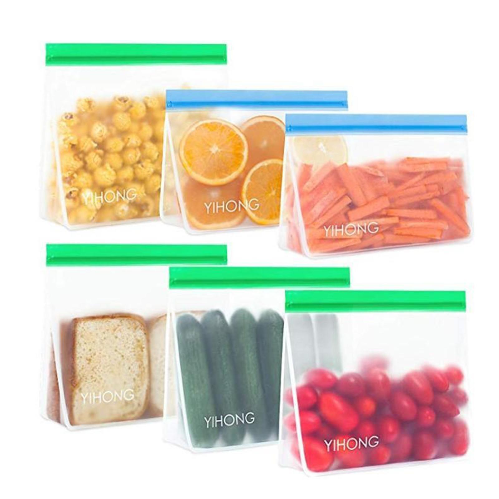 3-pezzi-di-Cibo-Sacchetto-di-Immagazzinaggio-Fresco-PEVA-Carne-Frutta-BPA-Libero miniatura 14