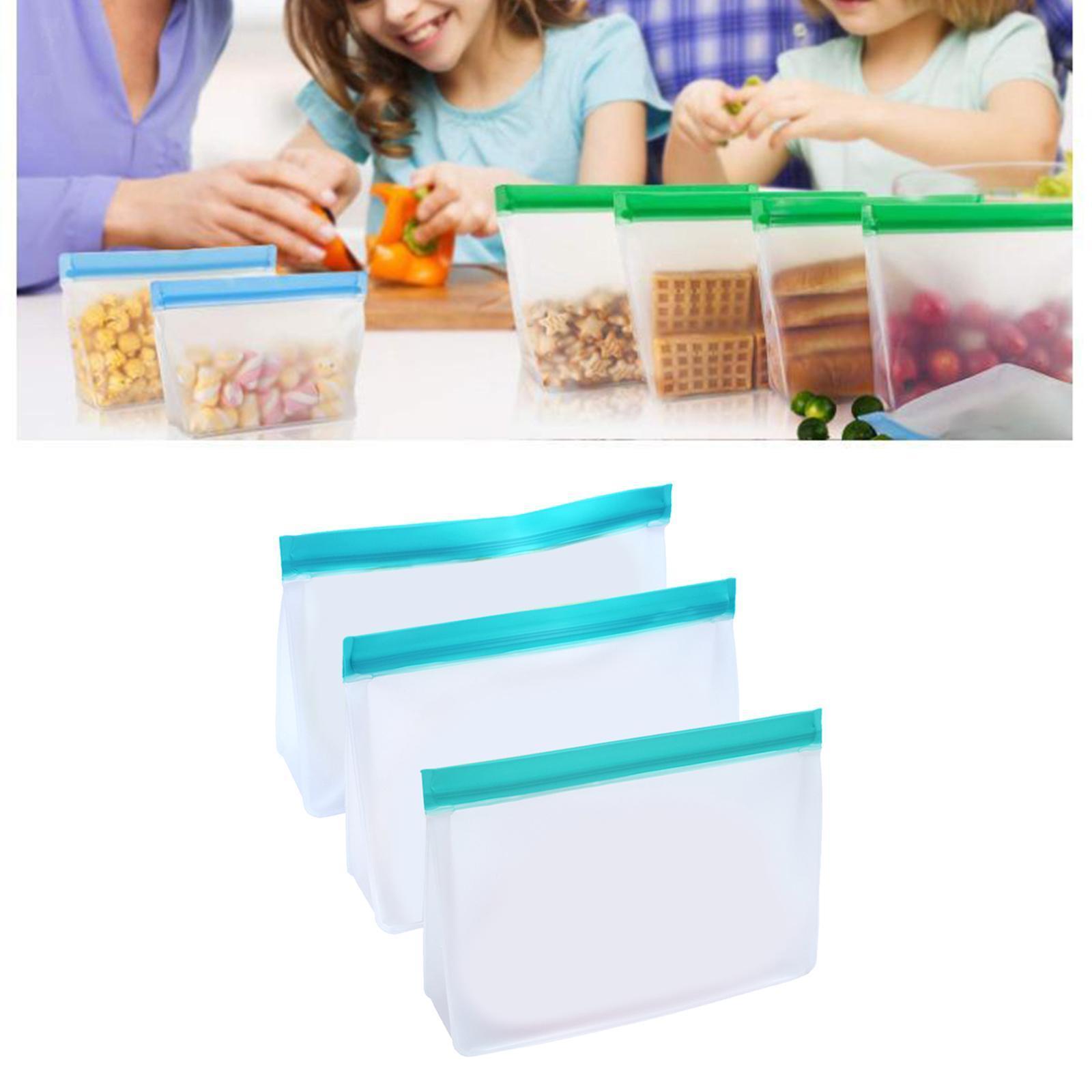 3-pezzi-di-Cibo-Sacchetto-di-Immagazzinaggio-Fresco-PEVA-Carne-Frutta-BPA-Libero miniatura 4