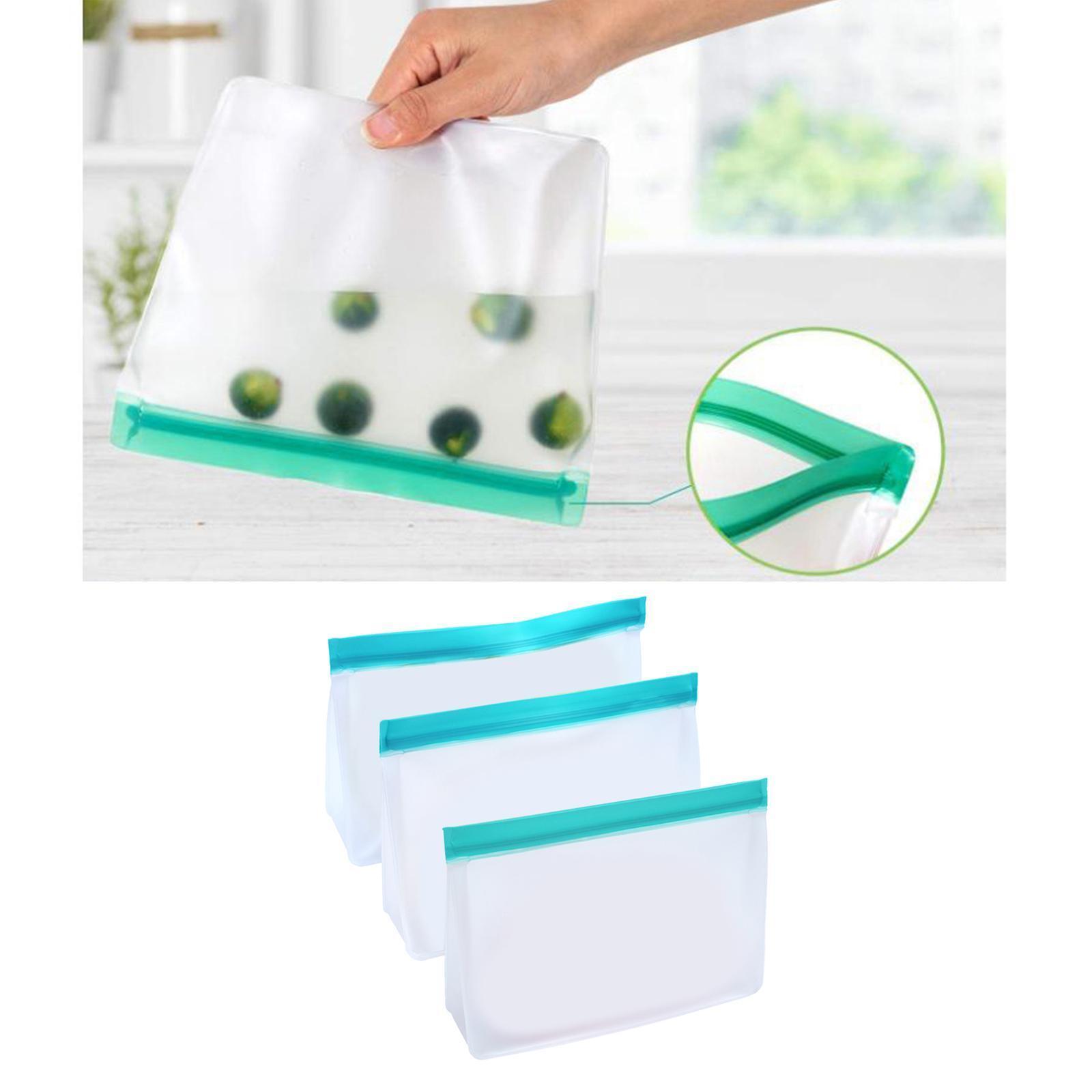 3-pezzi-di-Cibo-Sacchetto-di-Immagazzinaggio-Fresco-PEVA-Carne-Frutta-BPA-Libero miniatura 5