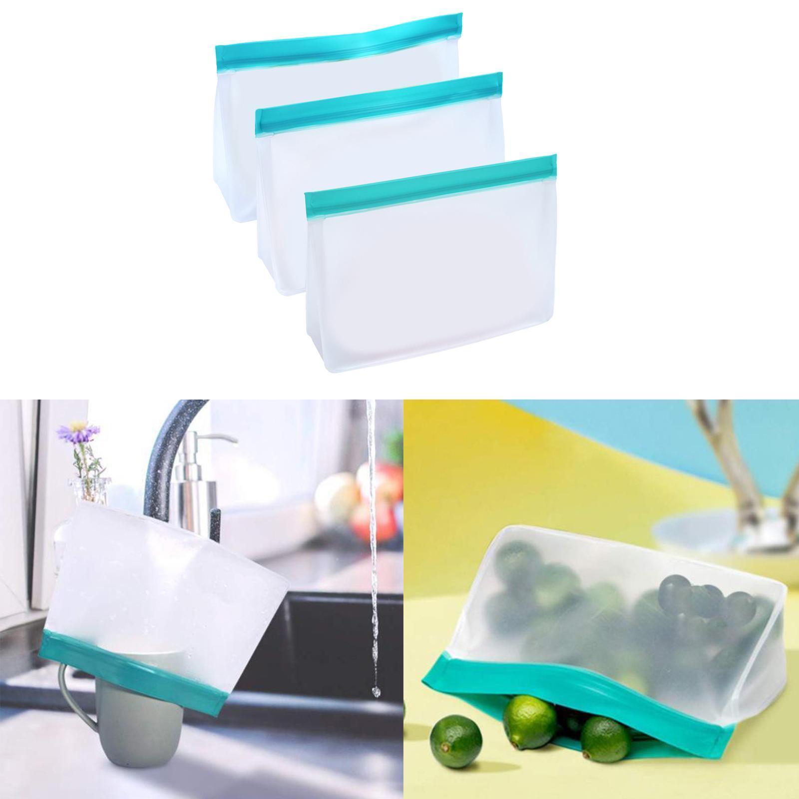 3-pezzi-di-Cibo-Sacchetto-di-Immagazzinaggio-Fresco-PEVA-Carne-Frutta-BPA-Libero miniatura 6