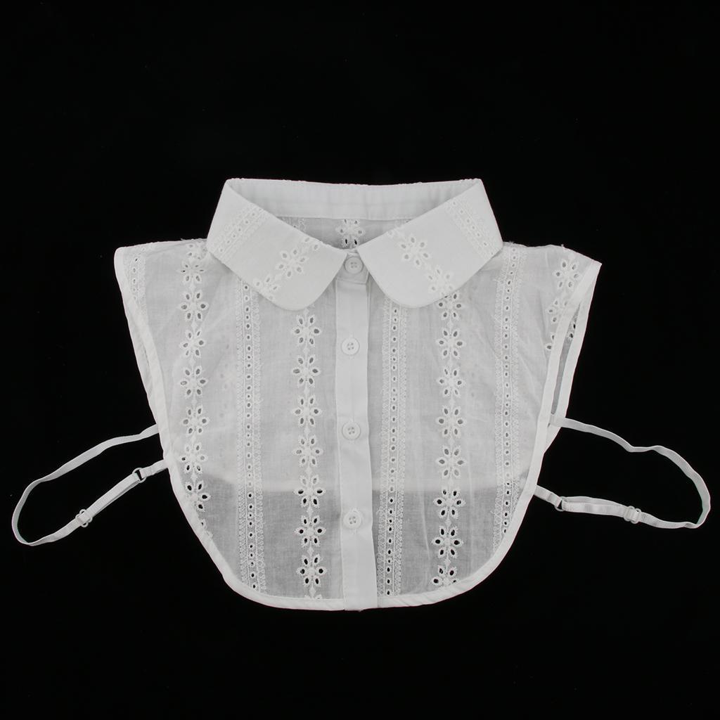 Women's Detachable Collar Shirt Collar Cotton Blouse Collar Accessories for