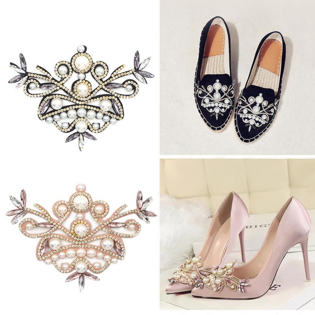 4x Girls Rhinestone Shoe Charms Wedding Bridal High Heel Shoes Decor Jewelry