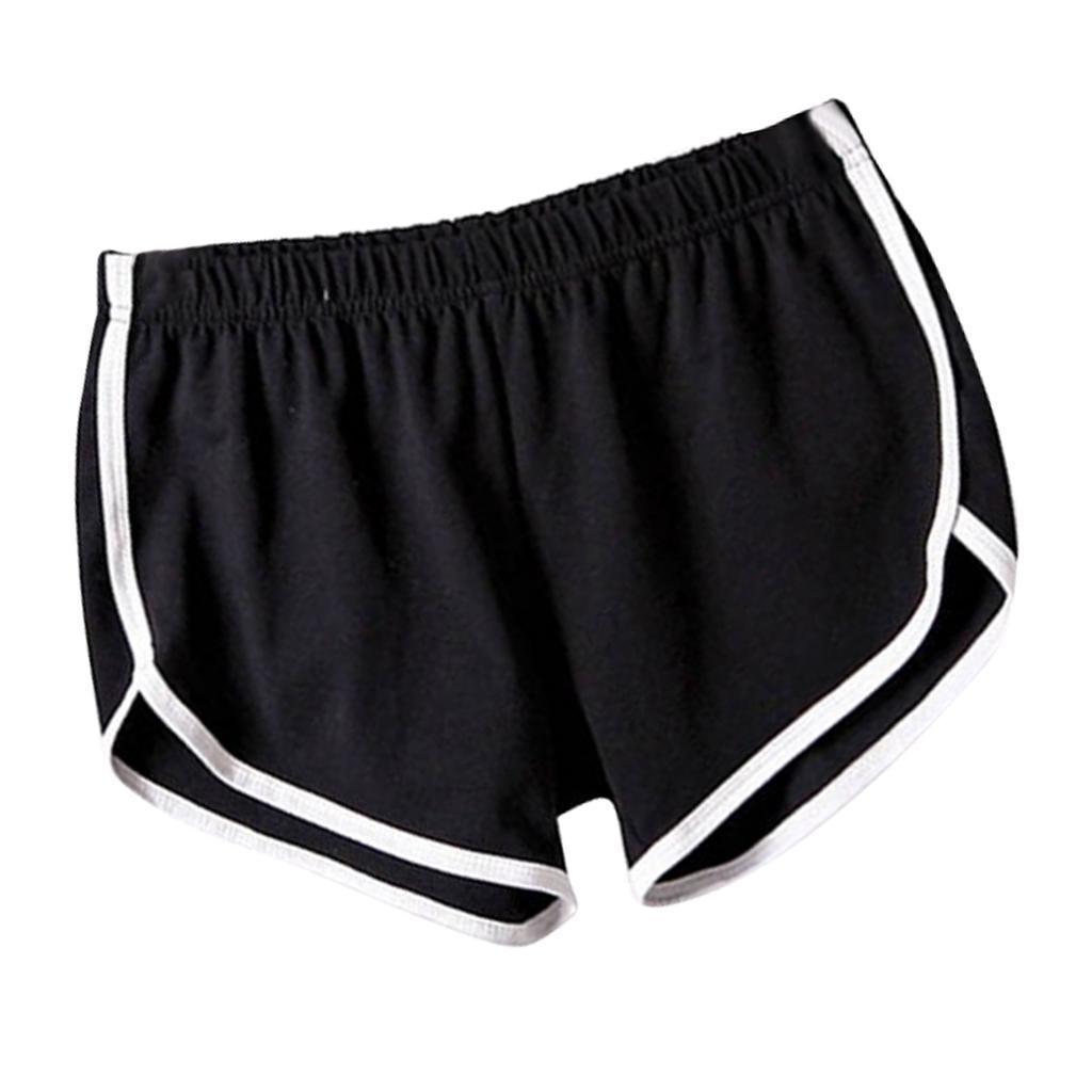 Shorts-de-sport-en-soie-de-lait-pour-femmes-Yoga-Dance-Pantalons-courts-Shorts miniature 4