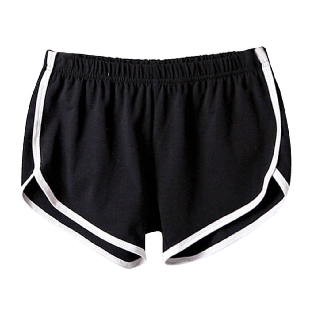 Shorts-de-sport-en-soie-de-lait-pour-femmes-Yoga-Dance-Pantalons-courts-Shorts miniature 3