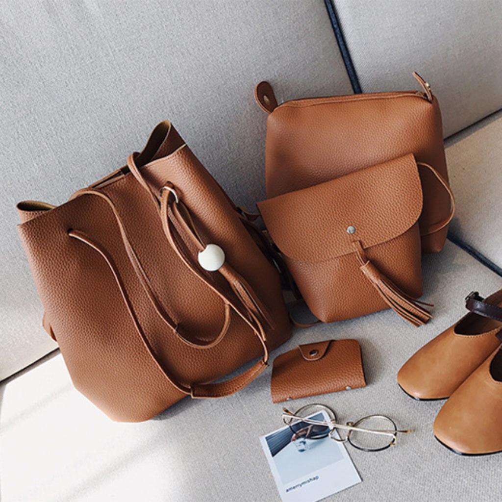 4Damen-Handtasche-mit-Perlenanhaenger-Elegant-Taschen-Shopper-Schultertasche Indexbild 21