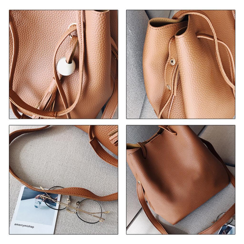 4Damen-Handtasche-mit-Perlenanhaenger-Elegant-Taschen-Shopper-Schultertasche Indexbild 22