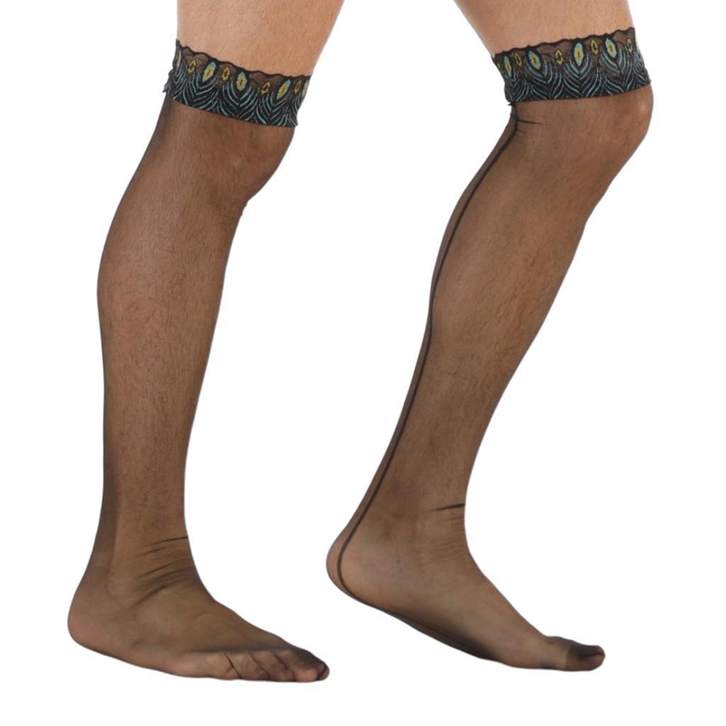2x-Sissy-Sexy-Black-Mesh-Socks-Chaussettes-Collants-Bas-Collants-Elastiques miniature 6