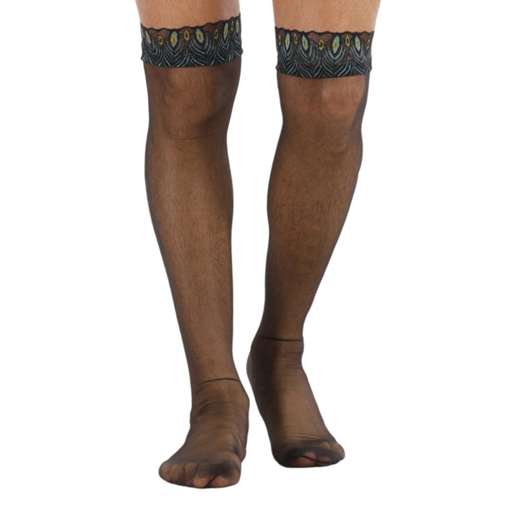 Prettyia-2pcs-mens-mesh-chaussettes-transparentes-collants-resille-bas miniature 6