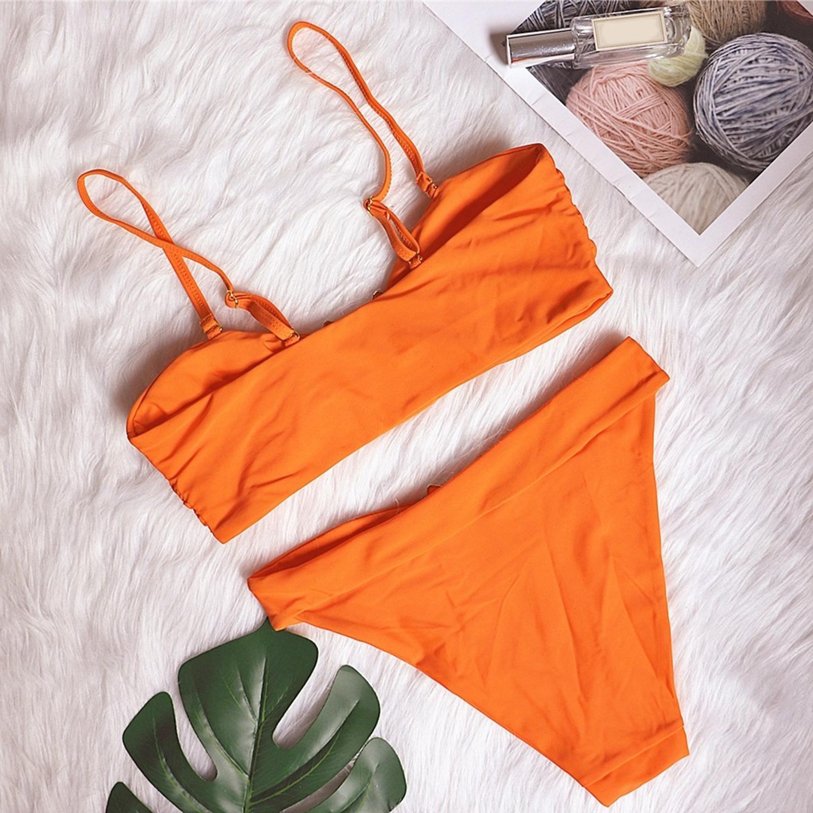 Indexbild 79 - Zwei Stücke Bikini Set Strappy Bademode Party Badeanzug Tankini Bademode