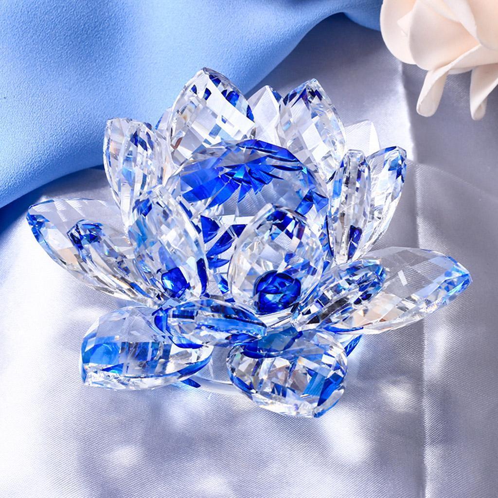 Ornameto-In-Cristallo-Stilo-Fiore-Loto-Feng-Shui-Arredamento-Interno miniatura 13