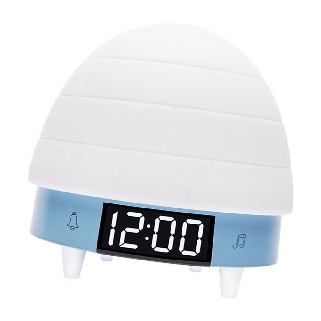 Sveglia-Ricaricabile-A-Luce-Notturna-Con-Tocco-In-Silicone-RC-Per-La-Camera-Dei miniatura 10