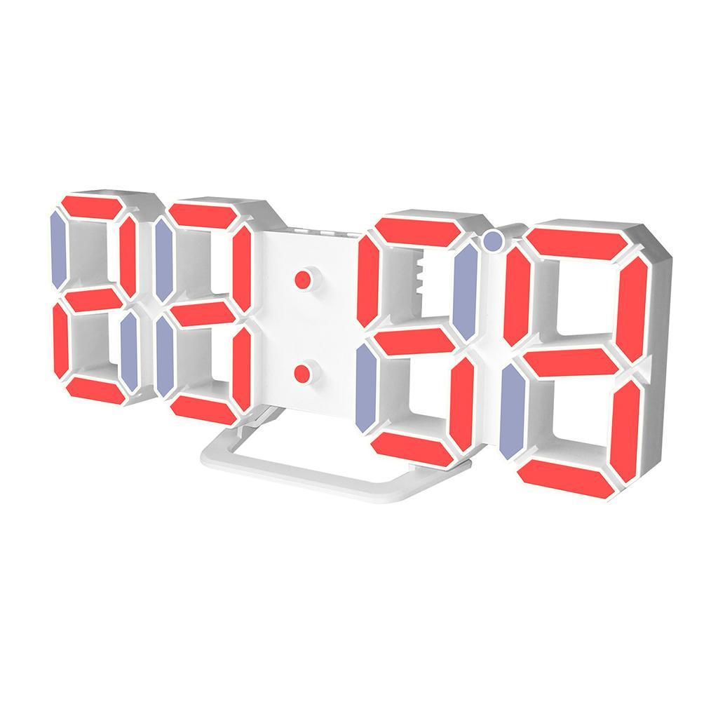 Moderno-Orologio-Da-Parete-A-LED-3D-Digitale-Snooze-USB-12-24-Ore miniatura 6