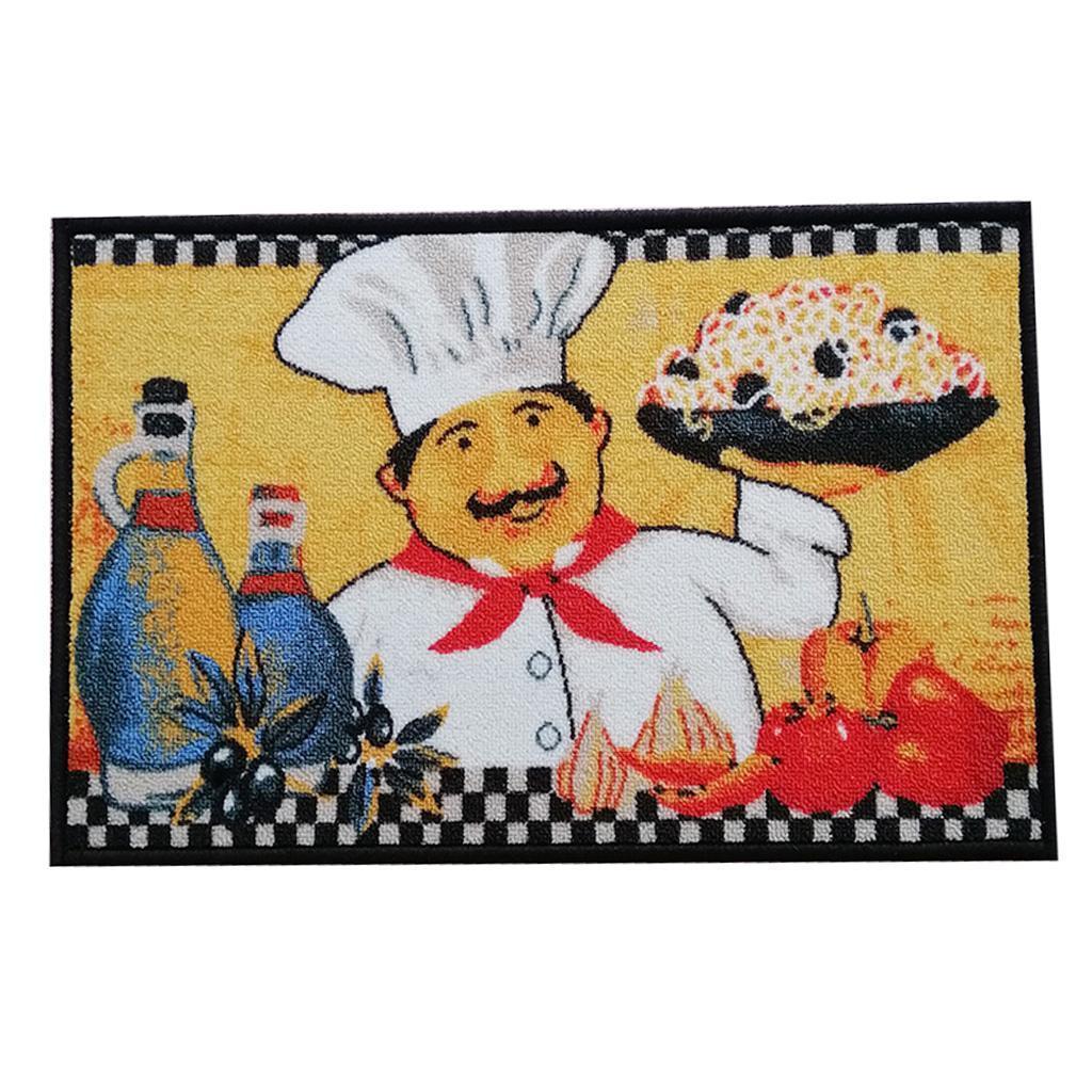 Chef-Di-Cucina-Zona-Tappeto-Soggiorno-Camera-Da-Letto-Piano-Mat-Tappeto miniatura 4