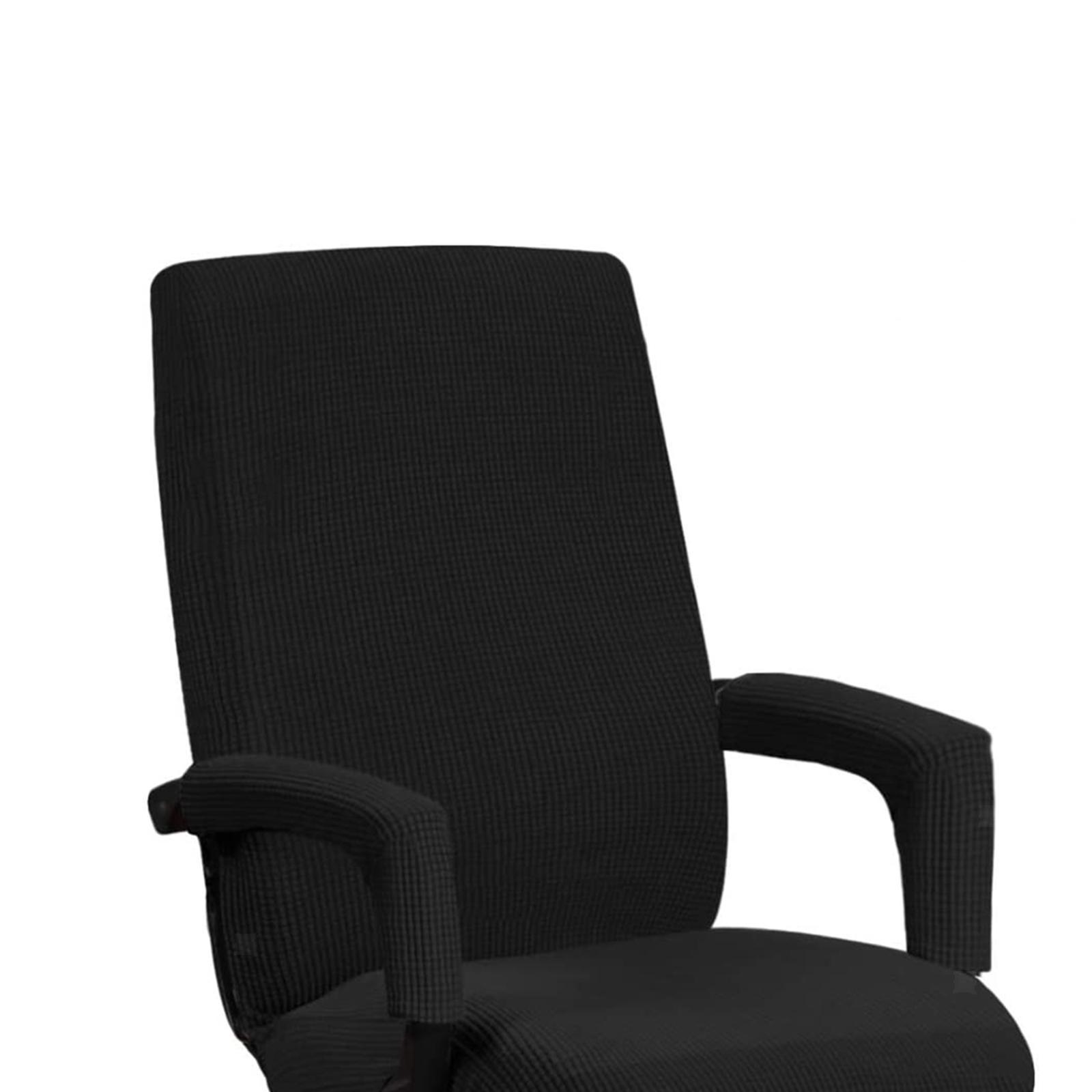 miniature 10 - Housses de chaise de bureau contemporaines à dossier haut et 2 housses de bras