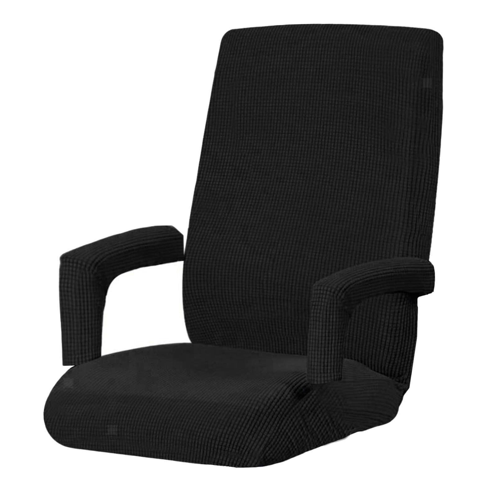 miniature 9 - Housses de chaise de bureau contemporaines à dossier haut et 2 housses de bras