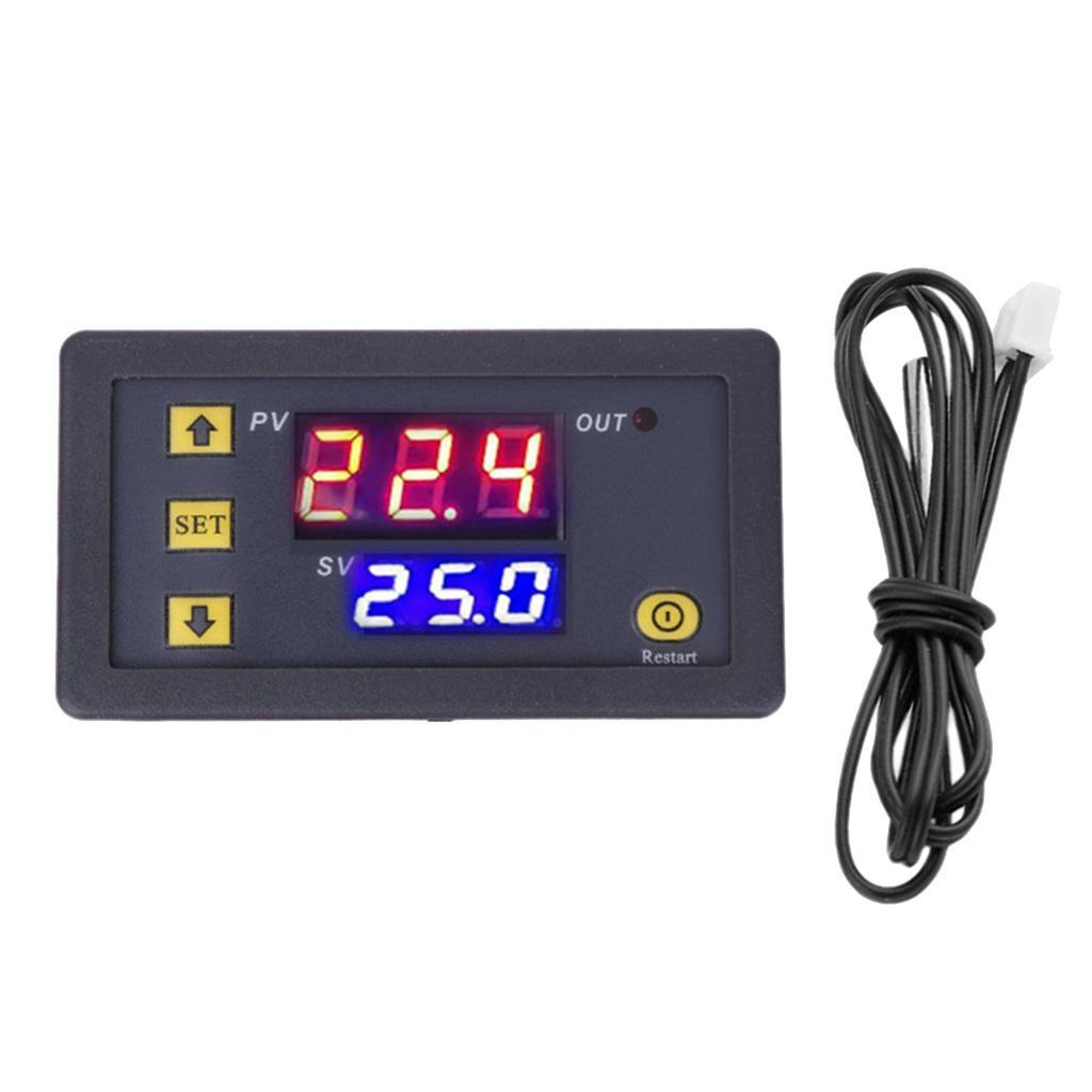 Controleur-de-Temperature-Thermostat-Regulateur-Sonde miniature 6