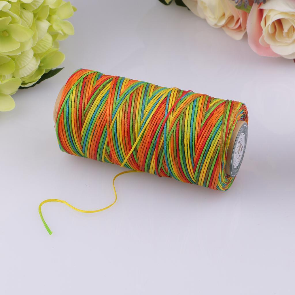 thumbnail 18 - 260M-Leather-Sewing-Waxed-Thread-150D-0-8mm-Leather-Hand-Stitching-DIY-Craft