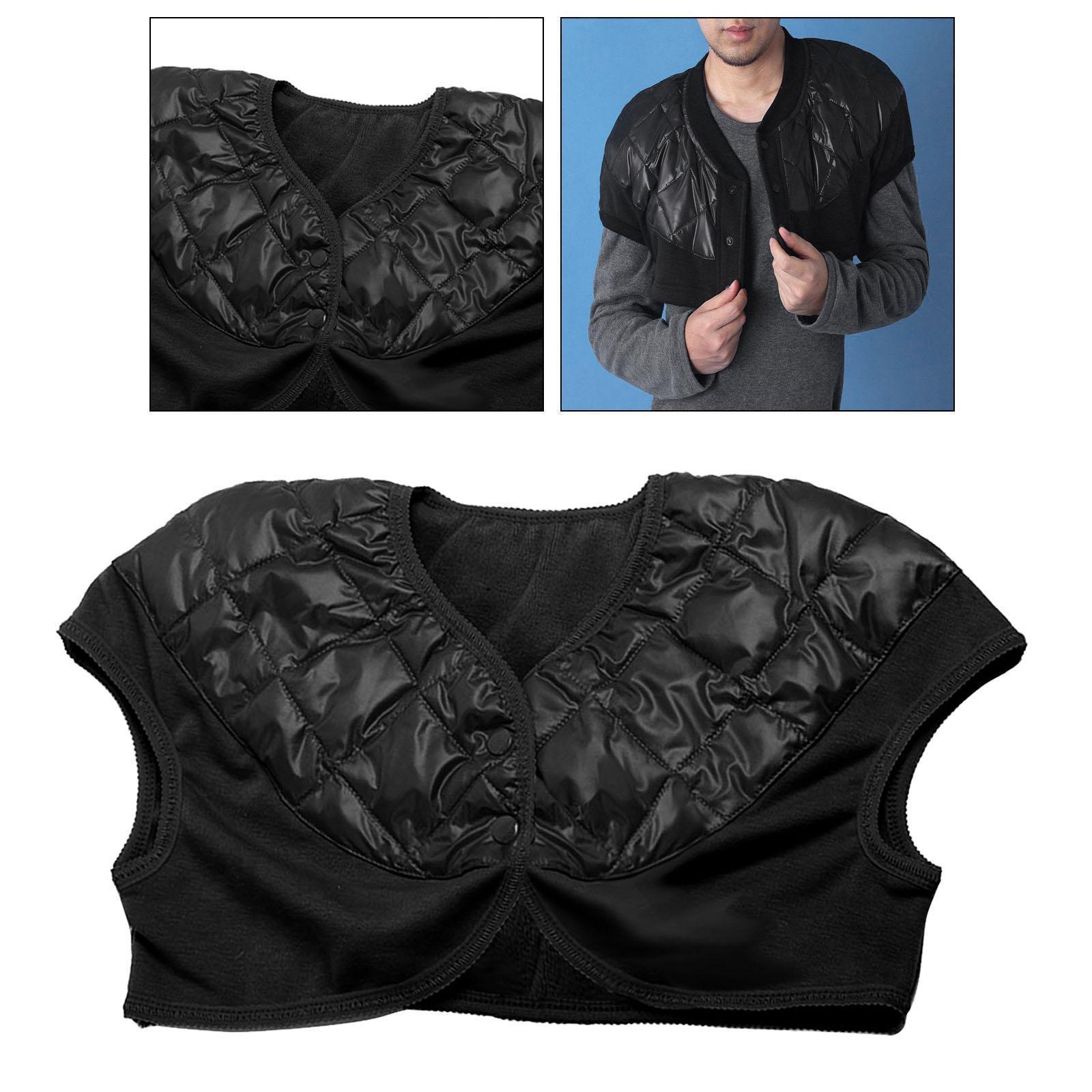 Femmes-Hommes-Down-Jacket-Chaud-Manteau-Court-Epaule-Chaud-Thermique-Wrap miniatura 20