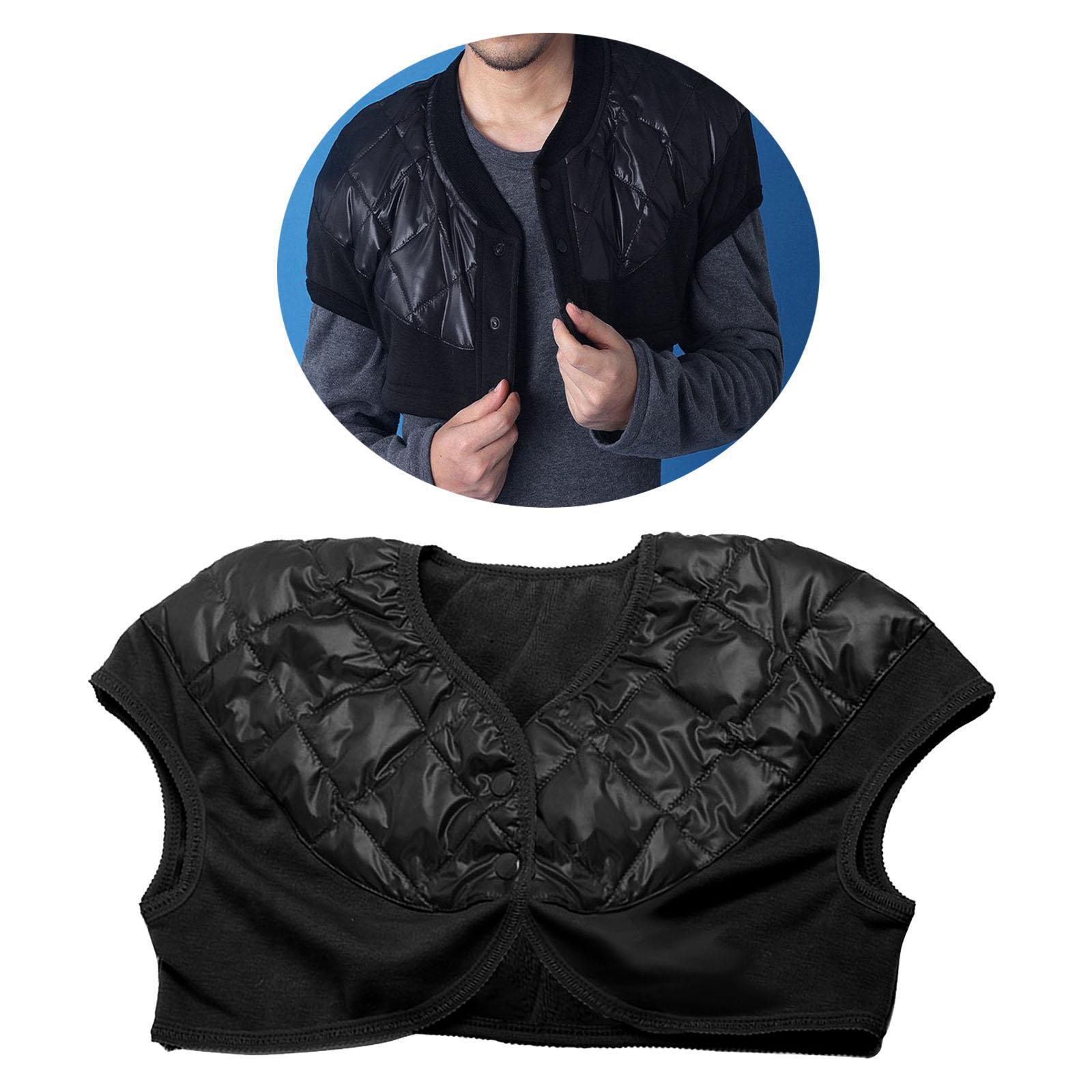 Femmes-Hommes-Down-Jacket-Chaud-Manteau-Court-Epaule-Chaud-Thermique-Wrap miniatura 22