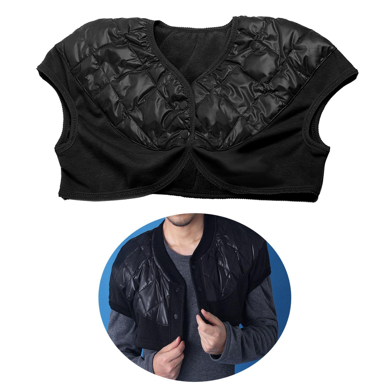 Femmes-Hommes-Down-Jacket-Chaud-Manteau-Court-Epaule-Chaud-Thermique-Wrap miniatura 17