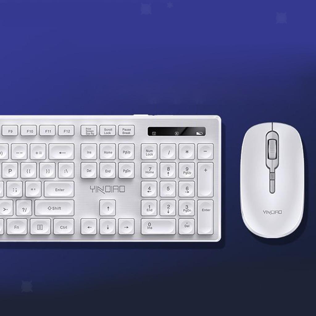 miniature 20 - Ensemble de souris clavier pleine grandeur avec récepteur USB pour ordinateur