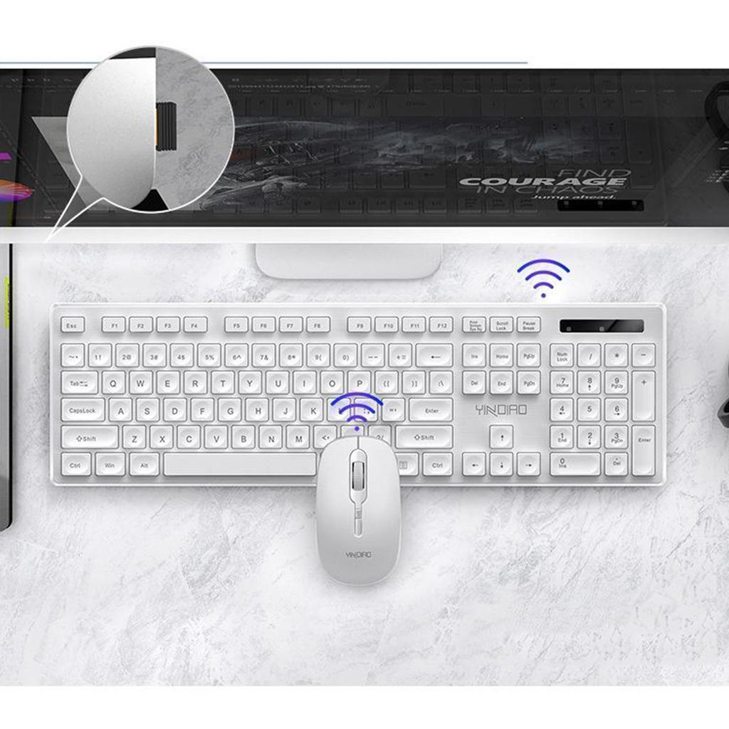 miniature 17 - Ensemble de souris clavier pleine grandeur avec récepteur USB pour ordinateur