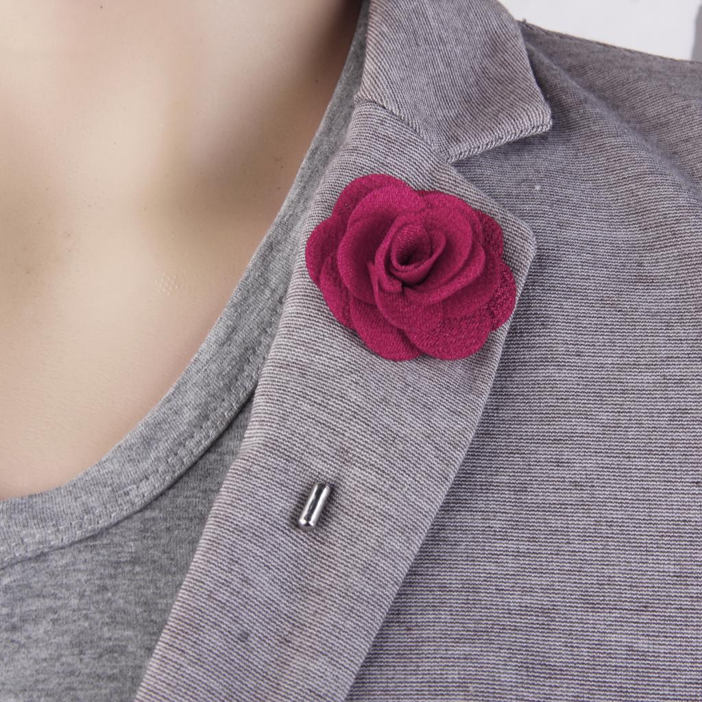 Romantic-China-Rose-Lapel-Men-Brooch-Boutonniere-Tuxedo-Tie-Pin-Wedding-Engage thumbnail 21