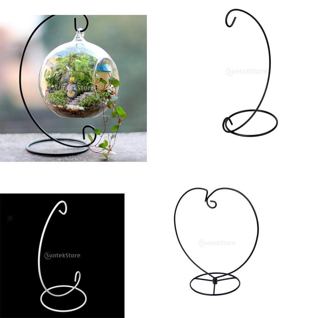 Various-Hanging-Glass-Ball-Tea-Light-Candle-Holder-Flowerpot-with-Iron-Stand thumbnail 29