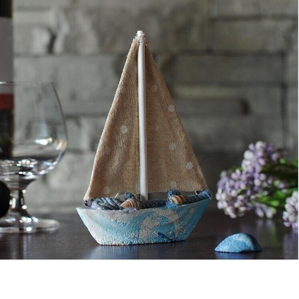 Wooden-Sailing-Boat-Ship-Ornament-f-Office-Cafe-Pub-Tabletop-Decoration thumbnail 9