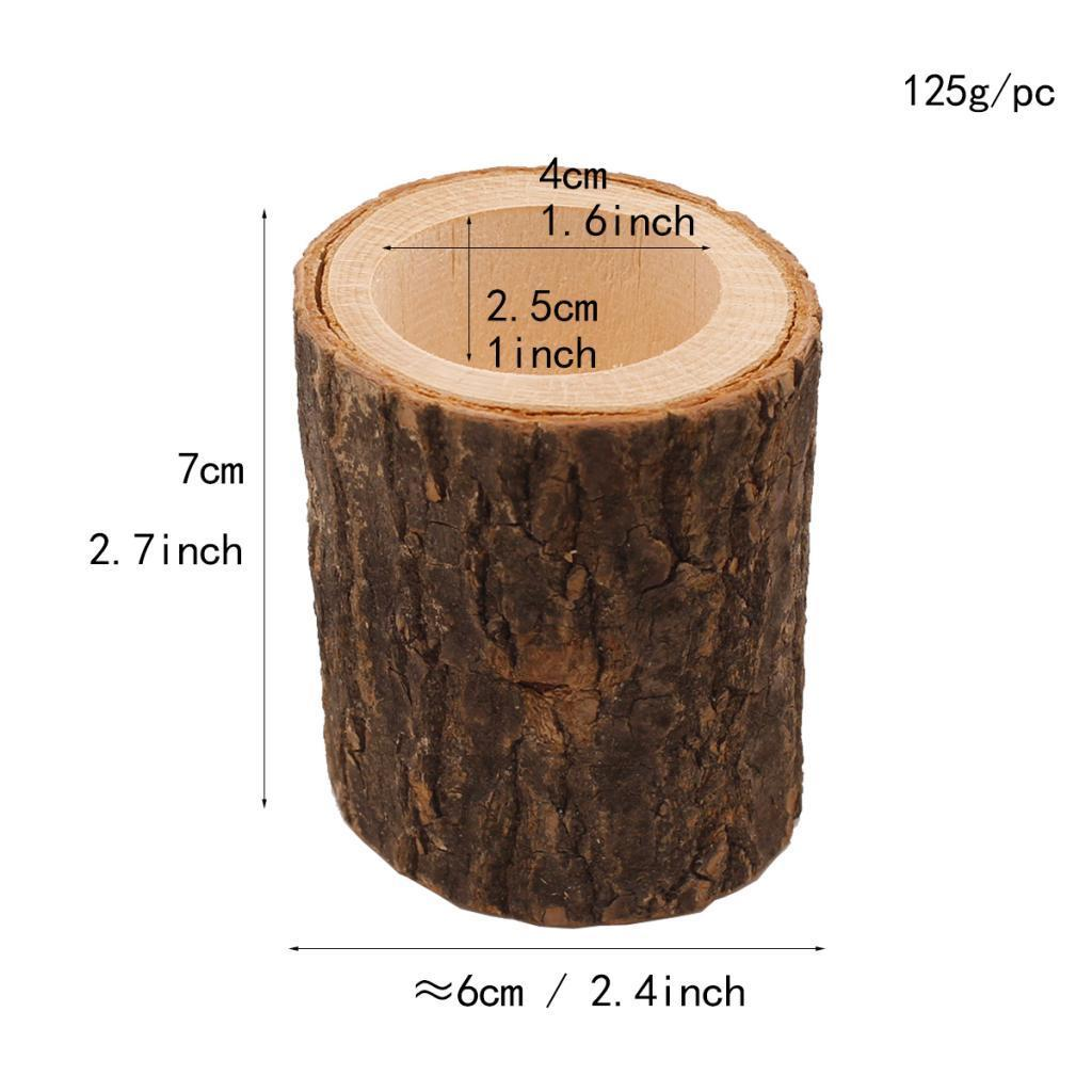 Wooden-Smooth-Candlestick-Tree-Stump-Candle-Stand-Lamp-Holder-for-Home-Room-Deco thumbnail 10