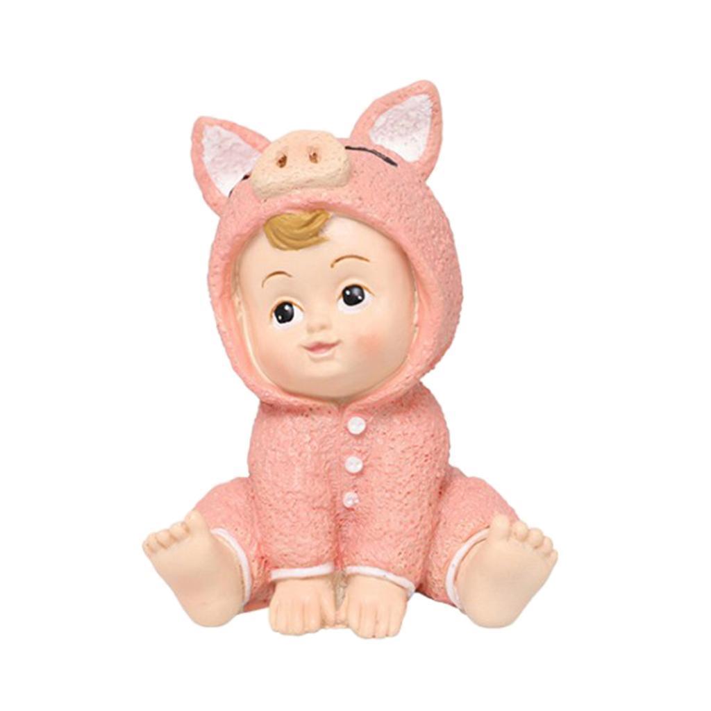 Harz-Mini-Baby-Puppe-Statue-Miniatur-Puppenhaus-Bonsai-Handwerk-Fee-Garten Indexbild 4