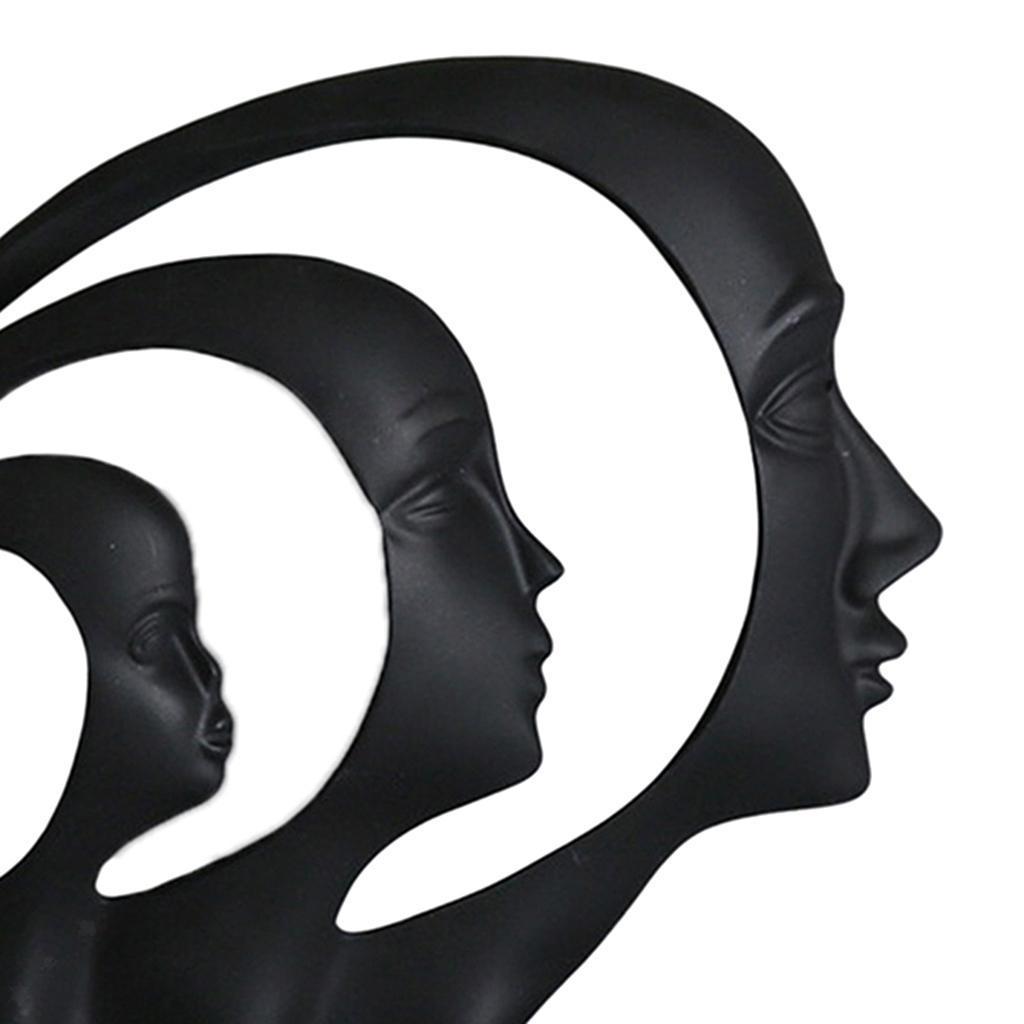 miniatura 19 - Arte Astratta Viso Scultura Statua Ufficio Tavolo In Resina Ornamenti di