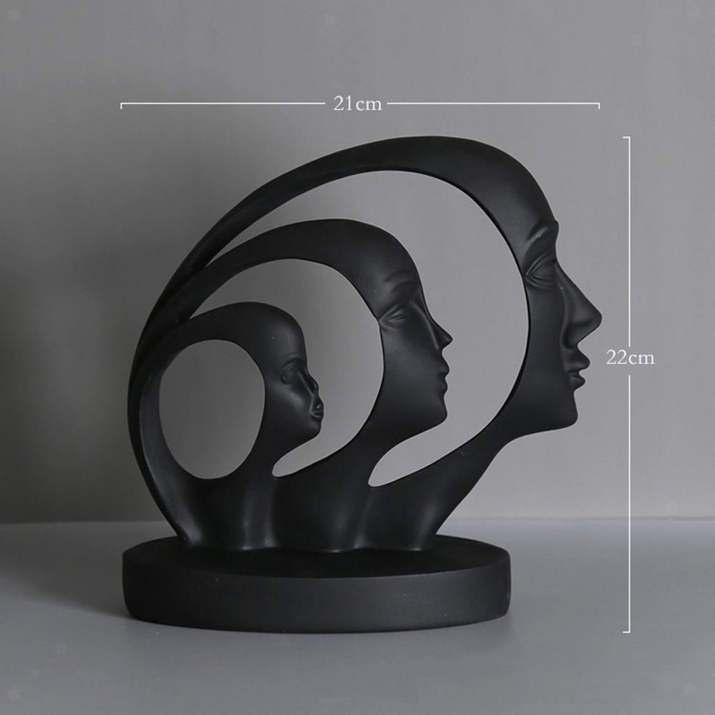 miniatura 17 - Arte Astratta Viso Scultura Statua Ufficio Tavolo In Resina Ornamenti di